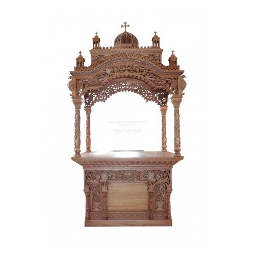 Holy Table Byzantine rhythm Baroque perforated with cubicle